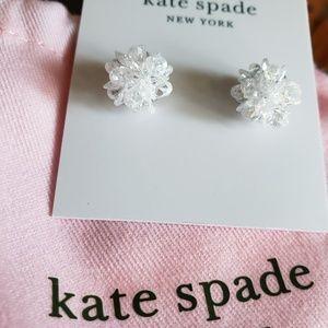 Kate spade clear cluster earrings